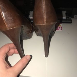 Carlos Santana Shoes - Brown pep toe heels